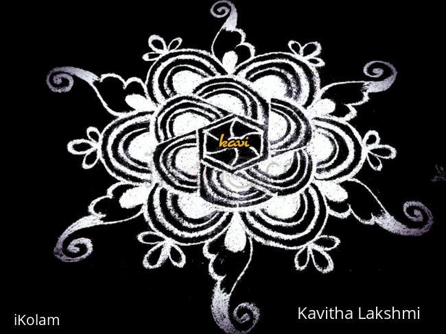 Rangoli: White N White padi kolam