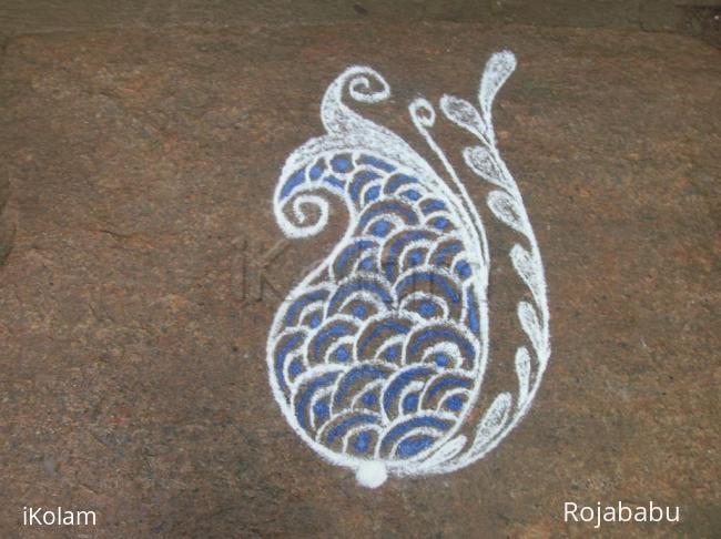 Rangoli: paisley