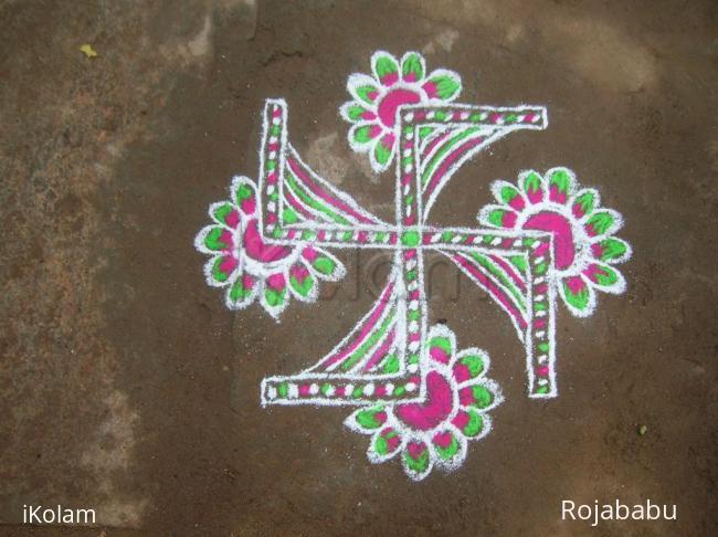 Rangoli: swastik 3