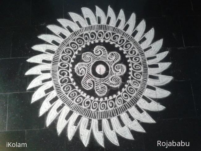 Rangoli: white beauty