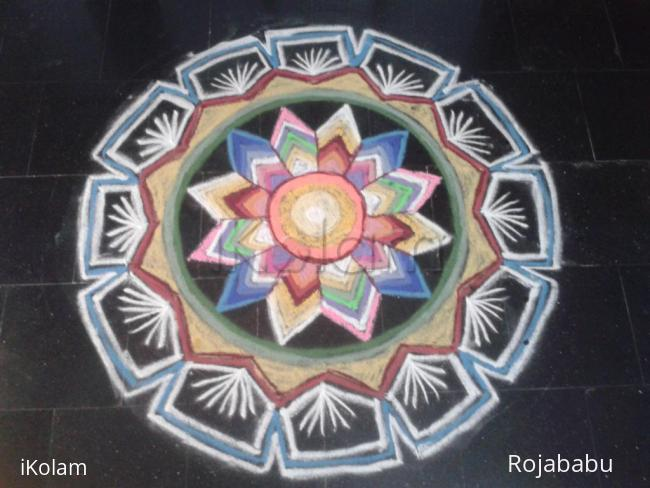 Rangoli: multi colour rangoli
