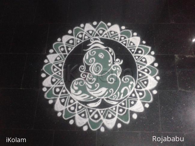 Rangoli: vinayagar rangoli 2