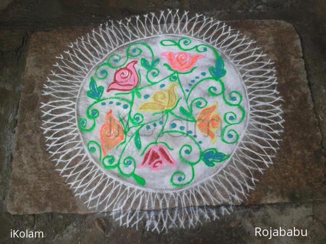 Rangoli: Margali kolam 5
