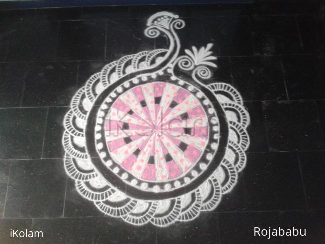 Rangoli: pink rangoli