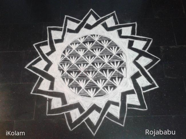 Rangoli: Only White