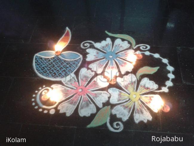 Rangoli: Karthigai welcome kolam