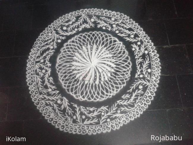 Rangoli: white rangoli