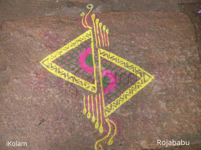 Rangoli: cut triangles