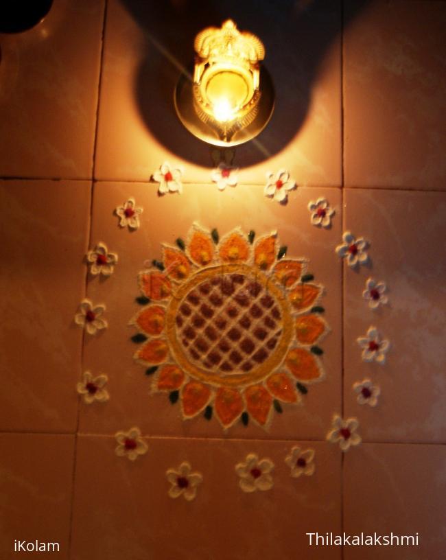 Rangoli: Sunflower kolam