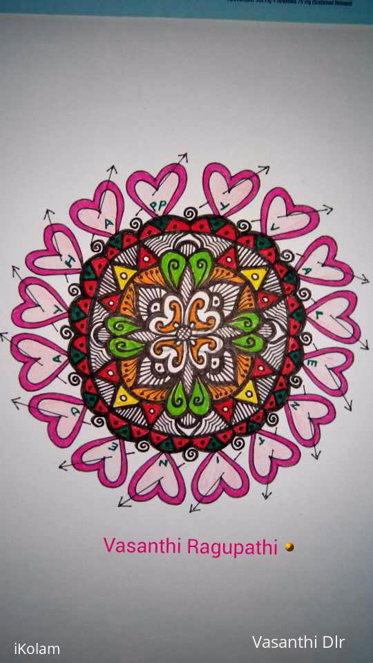 Rangoli: happy valenvalentine's day to all