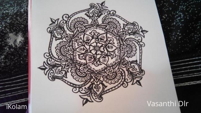 Rangoli: free hand drawing