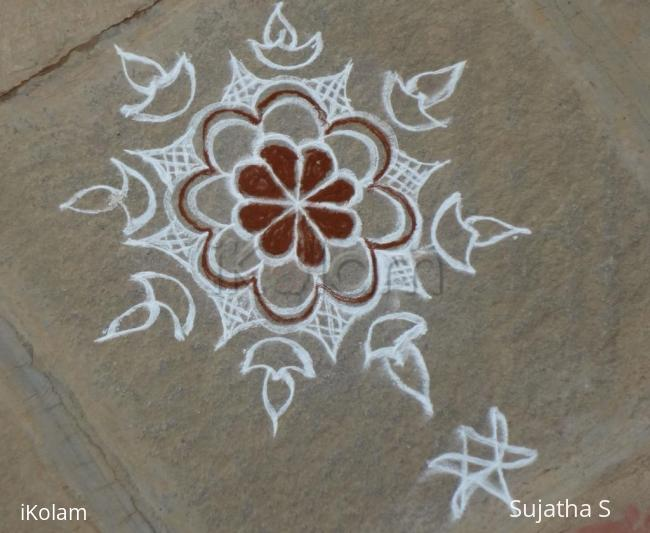 Rangoli: Trial Rangoli by a beginner
