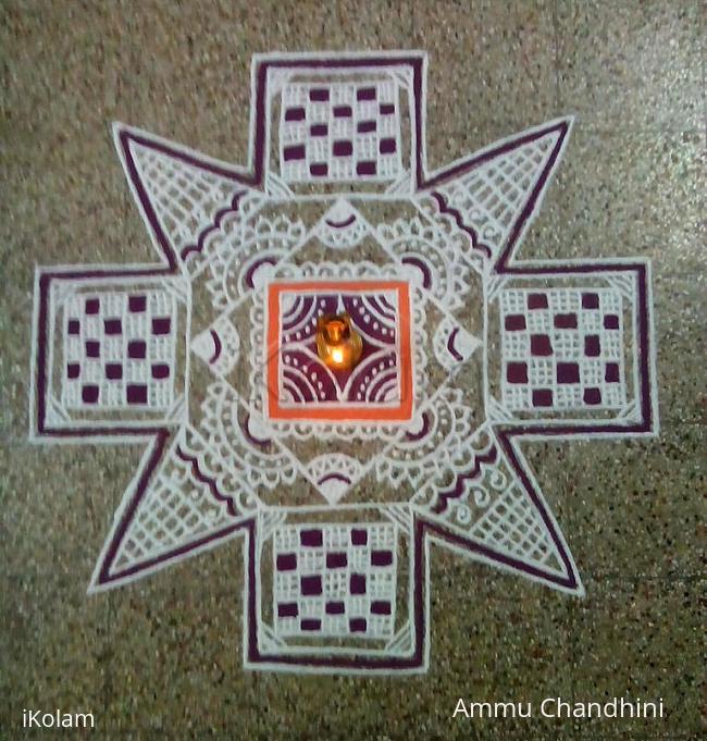 Rangoli: Aadi 1st Sevvai kolam-Avvayaar nonbu kolam