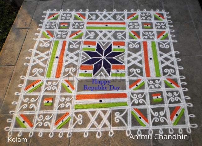 Rangoli: Republic day rangoli