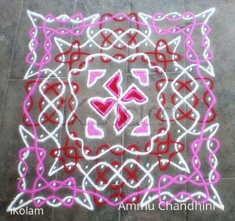 Rangoli: Valentine day spl rangoli-1
