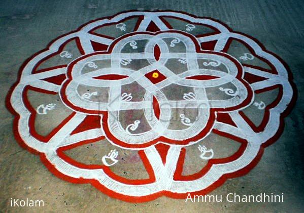 Rangoli: Margazhi  kolam on road-4-Arudra darisanam spl kolam