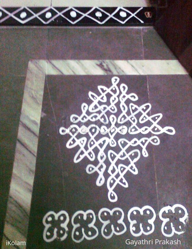 Rangoli: Maa kolam for Navaratri - Second day kolam