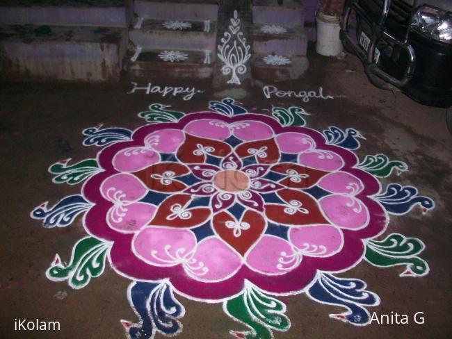 Rangoli: pongal free hand kolam