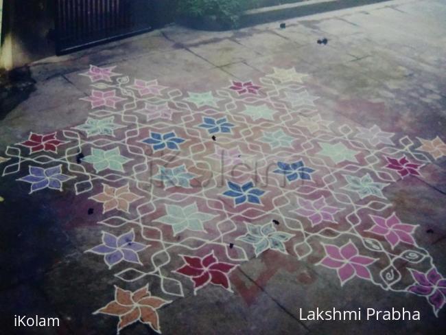 Rangoli: Margazhi Colurful kolam -Pookolam