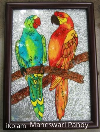 Rangoli: Loving Parrots