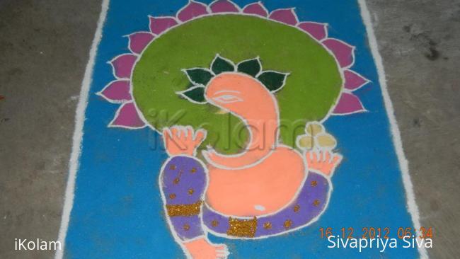 Rangoli: pillaiyar kolam