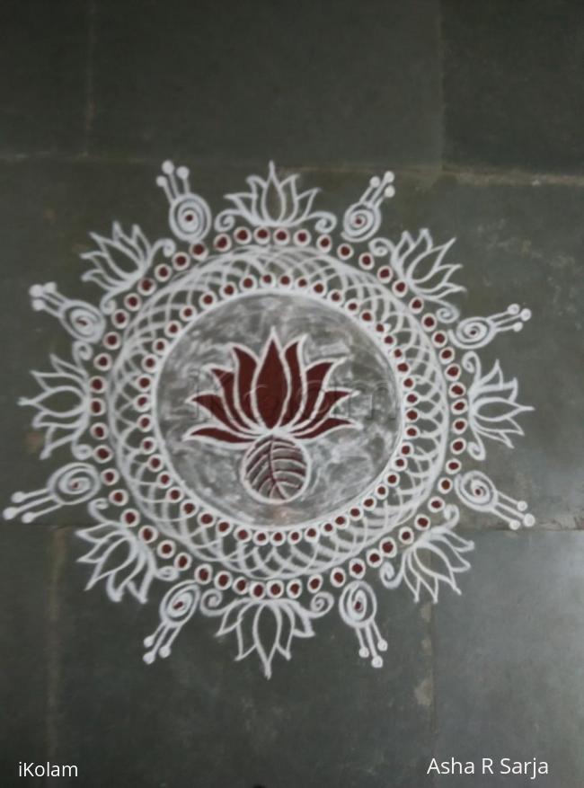 Rangoli: Navarathri day 1