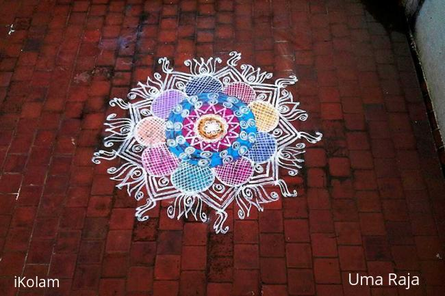 Rangoli: Rangoli on terrace