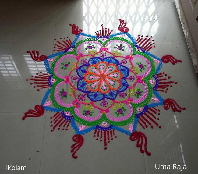 Rangoli: multicoloured freehand