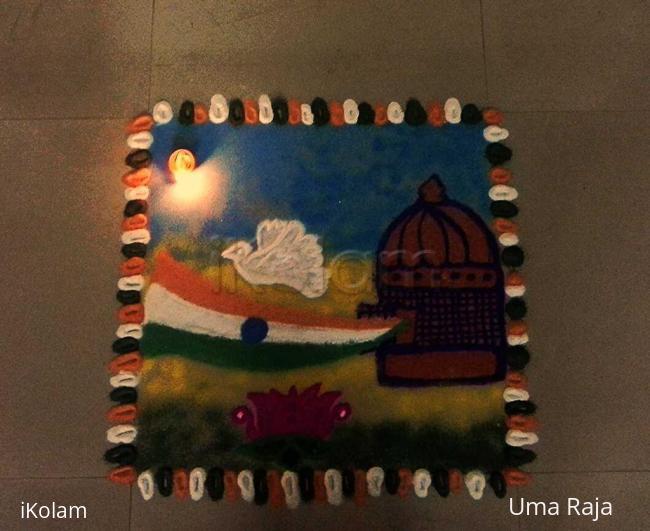 Rangoli: independence day kolam