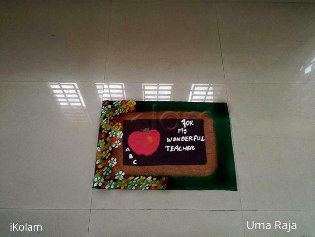 Rangoli: teachers day