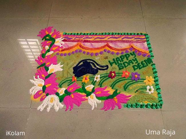 Rangoli: Happy bday deeps