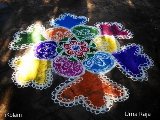 Rangoli: color florals