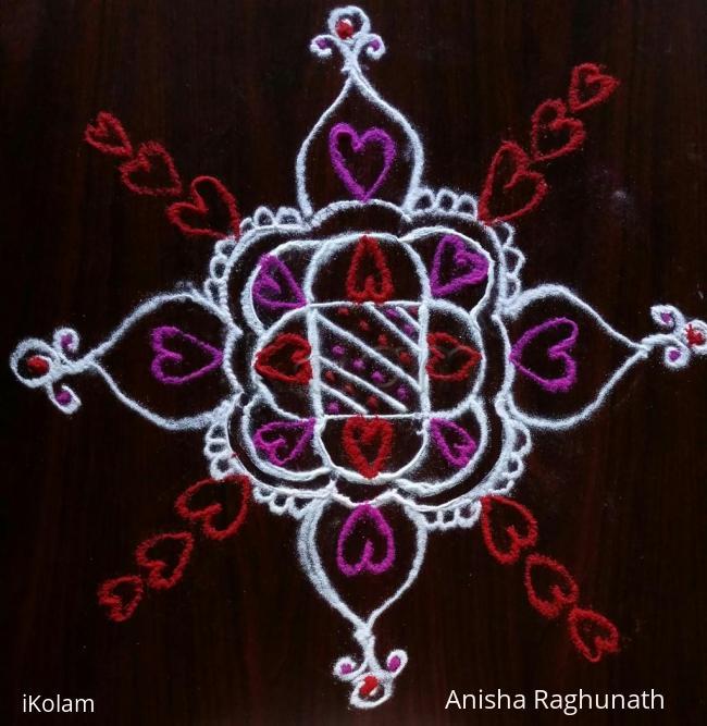 Rangoli: valentines day kolam