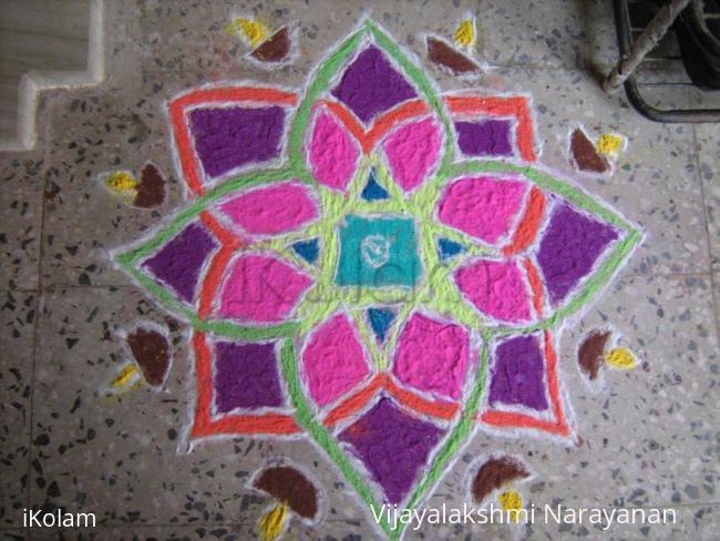 Rangoli: Karthikai rangoli