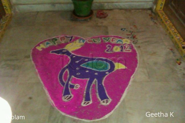 Rangoli: New year 2012 Rangoli