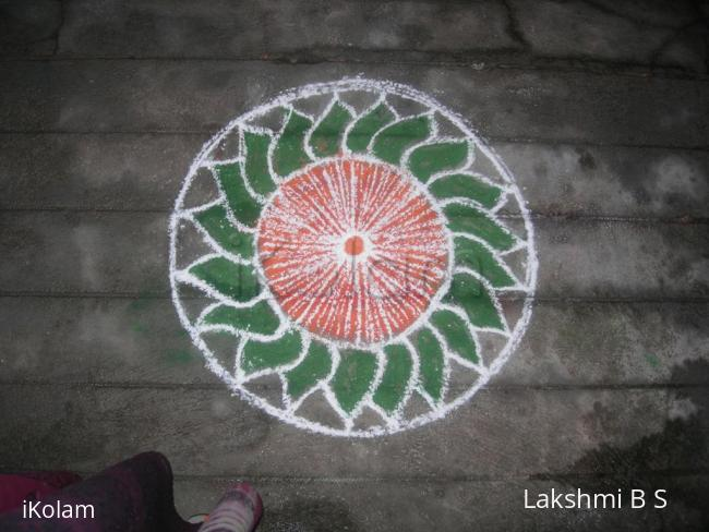 Rangoli: green leaves