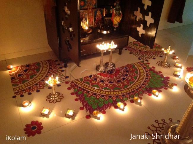 Rangoli: Rangoli for Karthigai festival