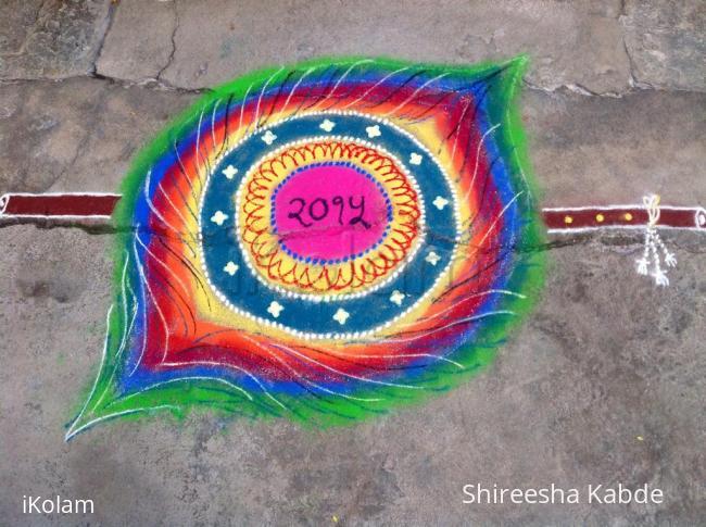 Rangoli: Happy New Year to all my Ikolam friends.. :)