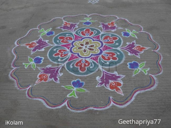 Rangoli: My New Year Creation