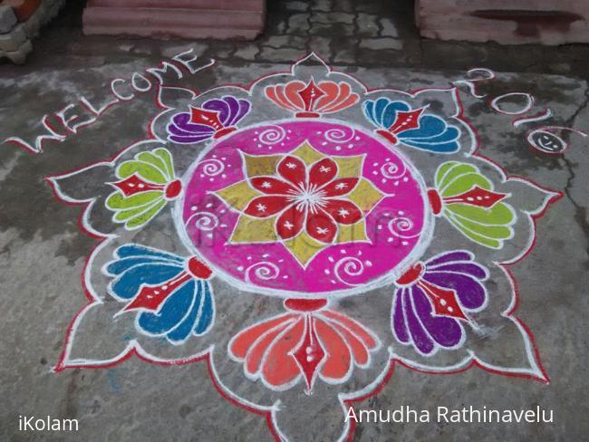 Rangoli: My sister's new year kolam