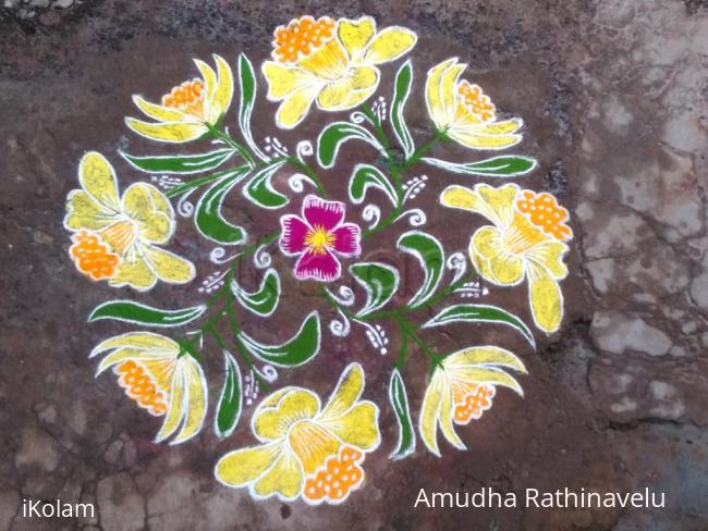 Rangoli:  HAPPY NEW YEAR FRIENDS