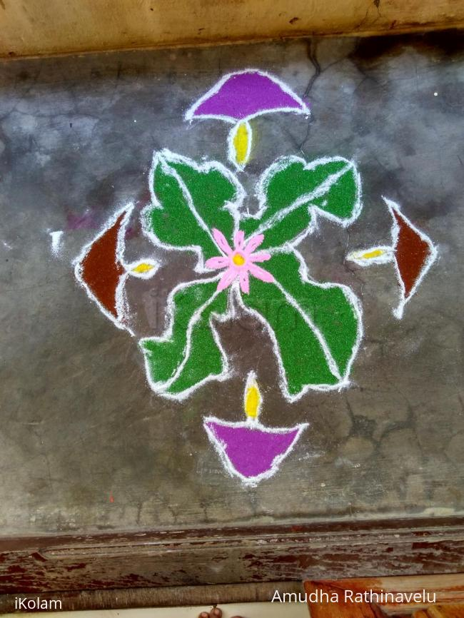 Rangoli: My daughter's. Rangoli