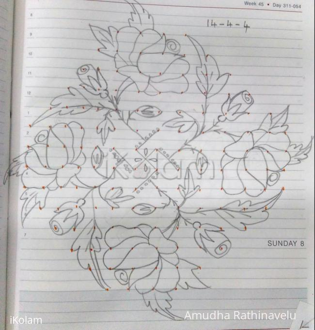 Rangoli: Pencil versions