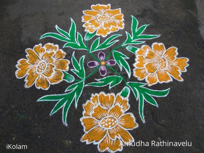 Rangoli: Happy Saraswathi Pooja