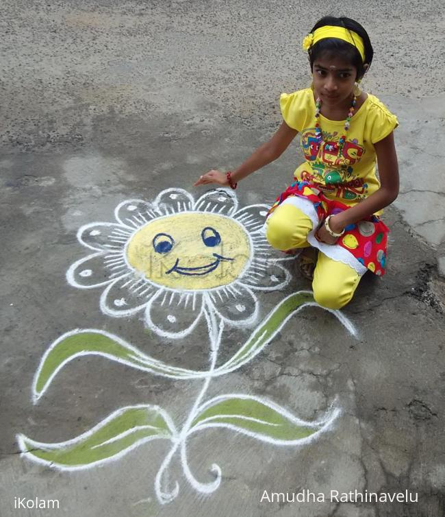 Rangoli: Little Smiley for my Little daughter's Birthday