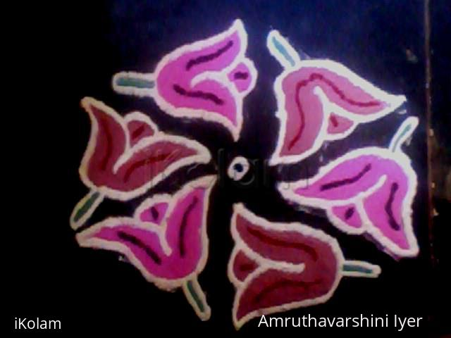 Rangoli: simple poo kolam 1