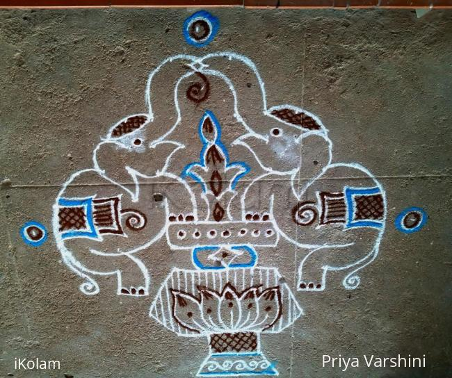 Rangoli: happy vinayagar chadurthi