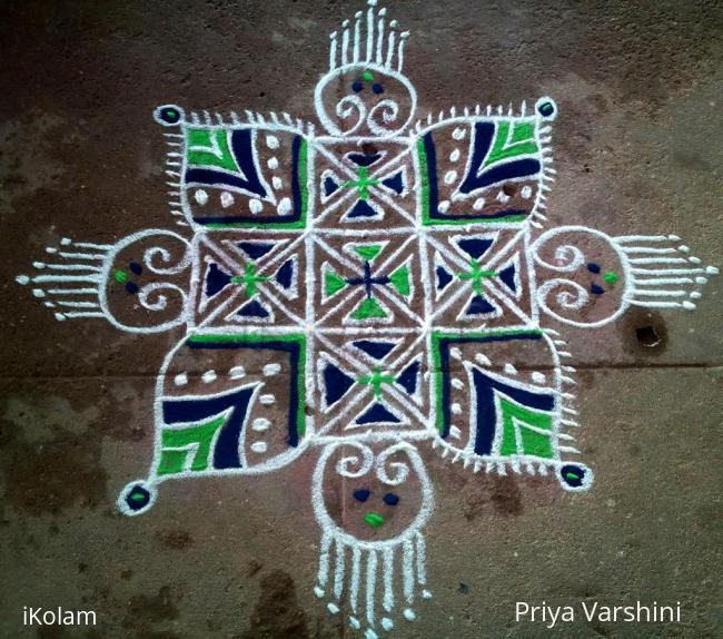 Rangoli: Freehand rangoli Happy Tamil New Year