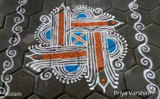 Rangoli: Rema.ramani mam's colour version