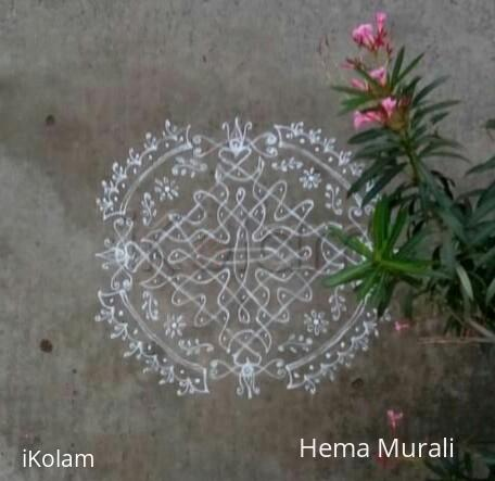 Rangoli: Margazhi day3 11to 1 straight dots